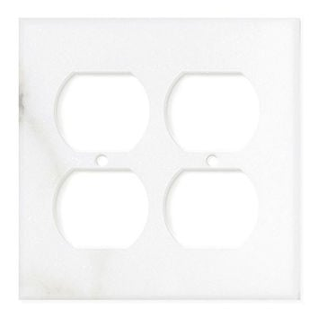 Italian Calacatta Gold Marble Double Duplex Switch Wall Plate / Switch Plate / Cover - Polished
