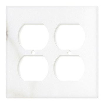 Italian Calacatta Gold Marble Double Duplex Switch Wall Plate / Switch Plate / Cover - Honed
