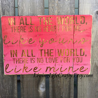 Home Rustic Sign - In all the world quote sign - Maya Angelou Quote - Distressed Red Pink Ombre Handmade Home Decoration - Home Wall Hanging