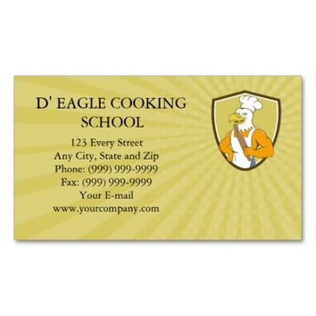 Business card Bald Eagle Baker Chef Rolling Pin Cr