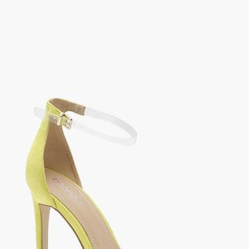 Clear Band 2 Part Heels | Boohoo