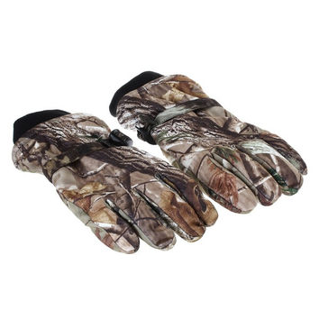Full-Fingers Bionic Camouflage Hunting Gloves - Camouflage (Pair / Free Size) = 1958124868
