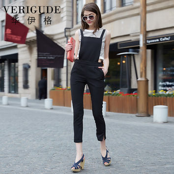 Veri Gude Women's Summer Overalls Women Capris Pants Summer Fashion Slim Fit
