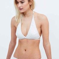 Minkpink Believers of Mermaids Bikini Top in White - Urban Outfitters