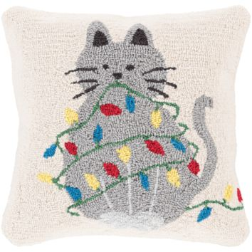 Holiday Cat Pillow