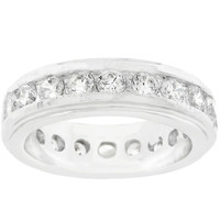 New England Eternity Ring in Silvertone