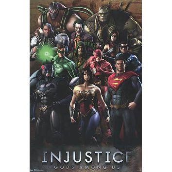 Injustice Gods Among Us Video Game Poster 22x34