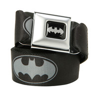 DC Comics Batman Black & Grey Logo Seat Belt Belt