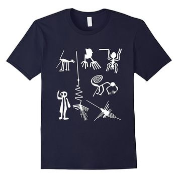 Ancient Nazca Lines Aliens Extraterrestrial T-shirt