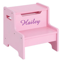 Guidecraft Expressions Step Stool: Pink - G87506