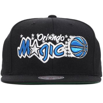 Orlando Magic Wool Solid Snapback Hat Black