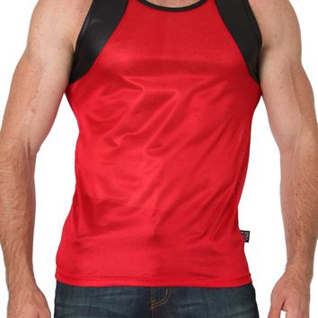 Timoteo Red Covert Harness Tank Top