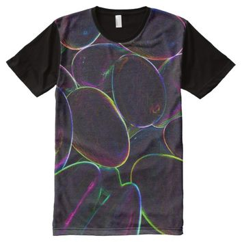 Psychedelic Candy Black All-Over-Print T-Shirt