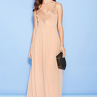 Double-V Chiffon Maxi Dress