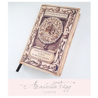 Refillable A6 Notebook Cover and Notebook. Standard Book of Spells Journal. Inspired by Harry Potter. Blank Inside.