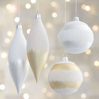Winter White Let It Snow Ornaments
