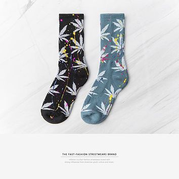 Socks With Print New Style Long Socks Men hip hop Streetwear Skateboard funny Socks