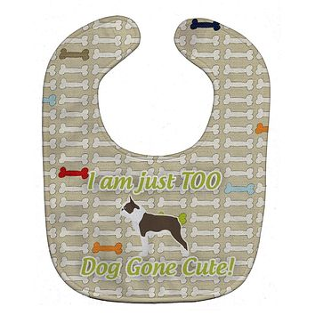 Boston Terrier Dog Gone Cute Baby Bib BB6549BIB
