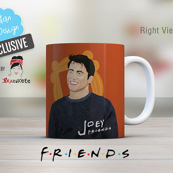 Friends Joey Tribbiani Mug Exclusive TV Series Show / 11 and 15 oz.