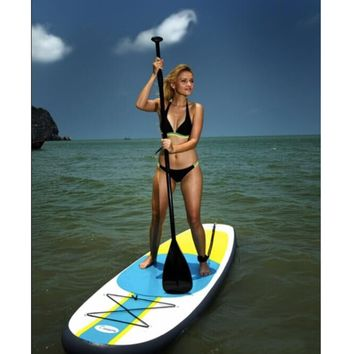 300x76x10CM 10FT SUP Inflatable Surfing Board Soft Surf Stand Up Paddle Board Surf Paddling 2018 NEW