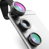 3 in 1 Magnetic Fisheye + Wide Angle + Macro Lens for Smart Phone