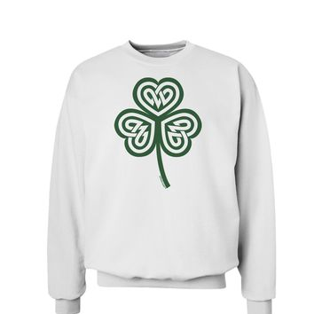 Celtic Knot Irish Shamrock Sweatshirt