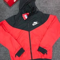 "Hot ""NIKE"" Trending Women Men Casual Hoodie Zipper Cardigan Sweatshirt Jacket Coat Windbreaker Sportswear I"