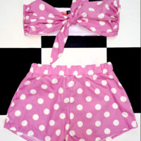 SWEET LORD O'MIGHTY! POLKA BABY SET IN PINK