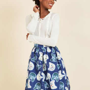Gravity and Go A-Line Skirt | Mod Retro Vintage Skirts | ModCloth.com