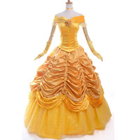 belle costume women party cosplay halloween costumes for women beauty and the beast costume adult princess dress custom