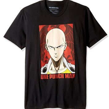 ANIME One Punch Man SAITAMA FACE T-Shirt NWT 100% Authentic