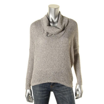 Casual Couture by Green Envelope Womens Knit Marled Turtleneck Sweater