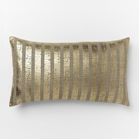 Metallic Sovereign Stripe Pillow Cover