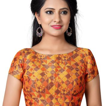 Designer Orange Ready-made Saree Blouse SNT-X-454-SL
