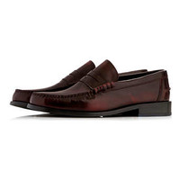 Burgundy Leather Penny Loafers