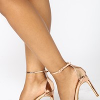 Georgia Strappy Heel - Rose Gold