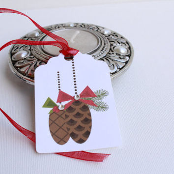 12 Christmas Gift Tags  - Holiday gift tags