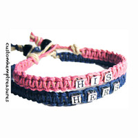 His Hers Beaded Couples Bracelets Sterling Silver Beads Set of 2 Hemp Bracelets MADE TO ORDER-3 Week production time