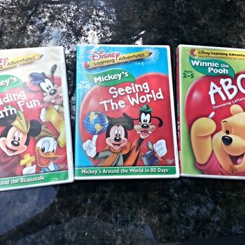 Disney Learning Adventures dvds