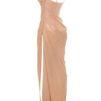 Clothing : Max Dresses : 'Nastassia' Rose Gold Corseted Maxi Dress
