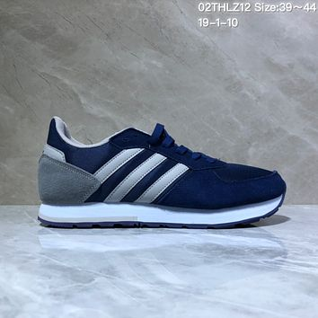 KUYOU A435 Adidas NEO 8K Suede Mesh Fashion Casual Running Shoes Gray Blue