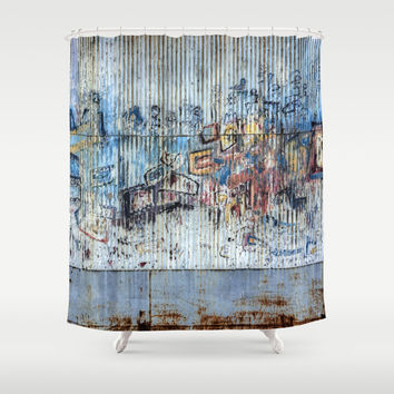 Graffiti Wall 2 Shower Curtain by Claude Gariepy