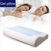 YR Orthopedic Neck Pillow with memory foam + Gel pad inner core and breathable pillowcase Nursing Cervical Health pillow