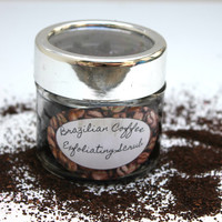 Coffee sugar scrub -   Vegan Coffee Scrub - Exfoliating Coffee Scrub - Coffee Lovers Gift - Body Polish - Luxurious body scrub - Cellulite