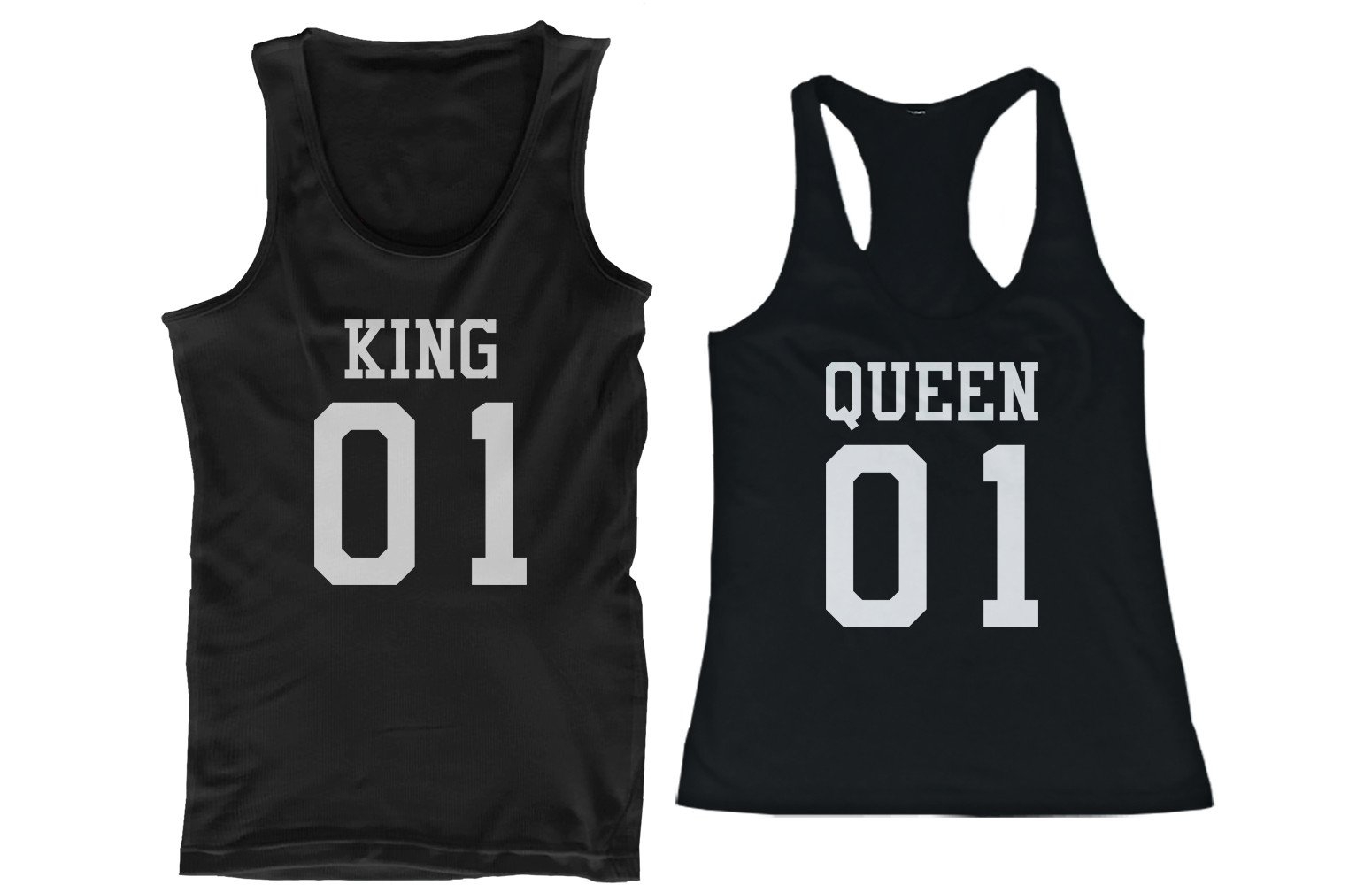 f197aa4777 King 01 Queen 01 Couple Tank Tops Matching Tanks Summer Vacation Tee