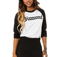 Diamond Supply Co Raglan Diamond4Life 3/4 Sleeve in Black