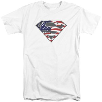 Superman - All American Shield Short Sleeve Adult Tall Shirt Officially Licensed T-Shirt