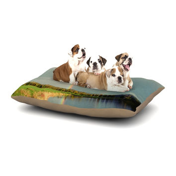 """Robin Dickinson """"Count Rainbows"""" Nature Typography Dog Bed"""