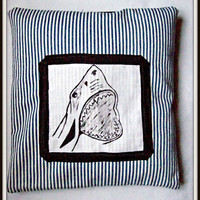 Sharky nautical cushion