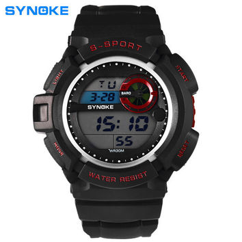 SYNOKE 61586 LED Alarm Waterproof Sport Watch